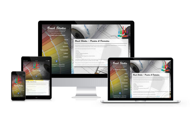 Brush Strokes - Website Design