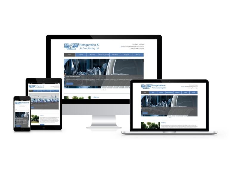 BW Refrigeration & Air Conditioning - Responsive Website Design