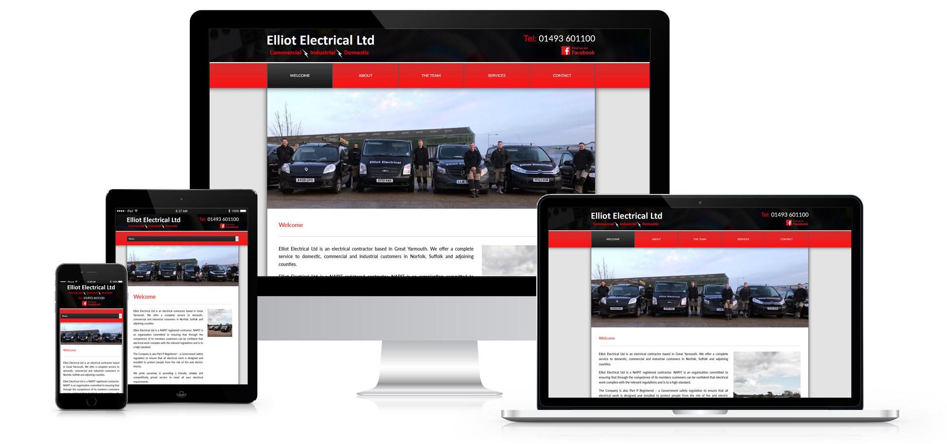 Elliot Electrical Limited - Responsive Website Design