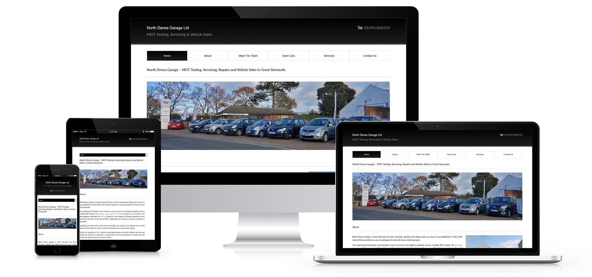North Denes Garage - Website Design