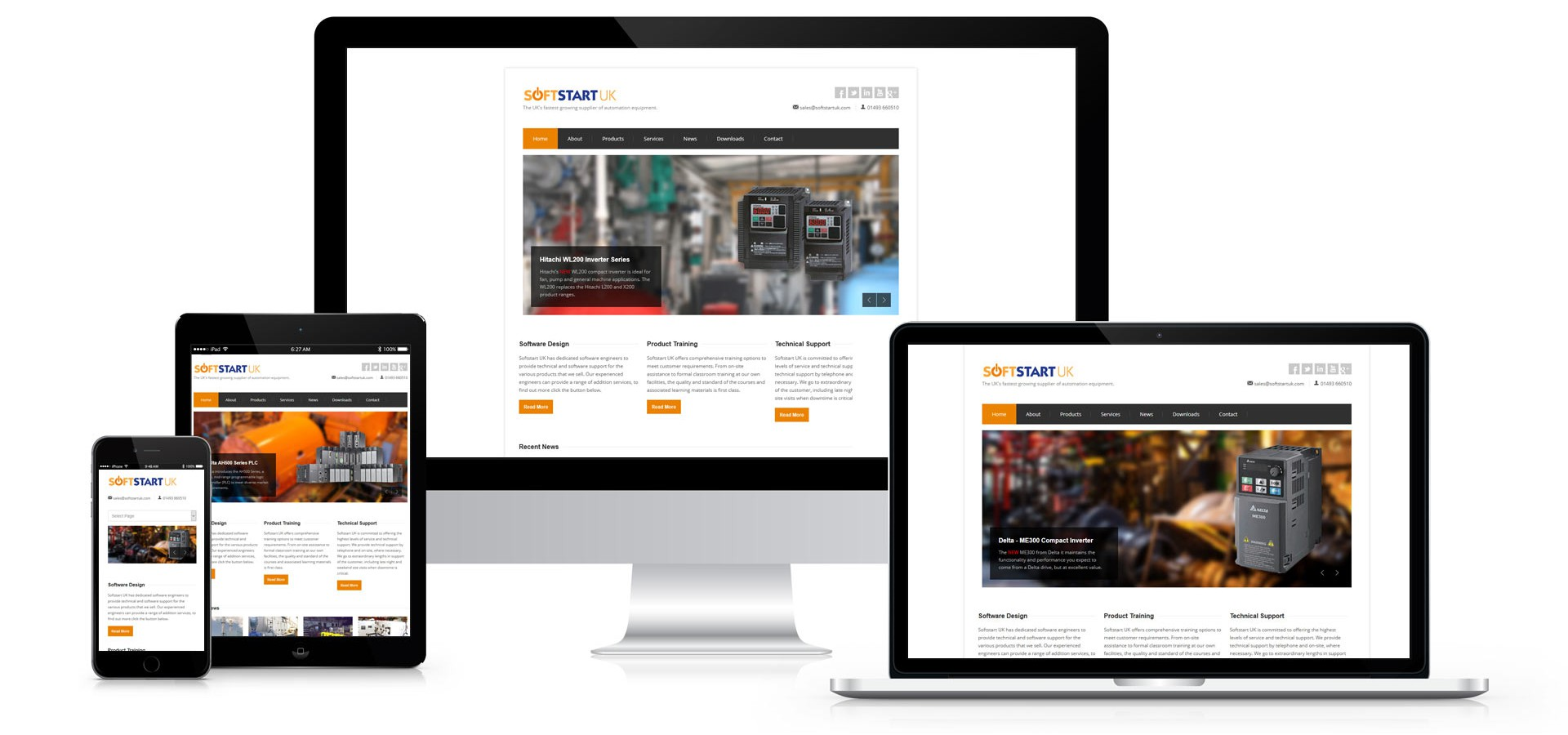Softstart UK - Responsive Website Design