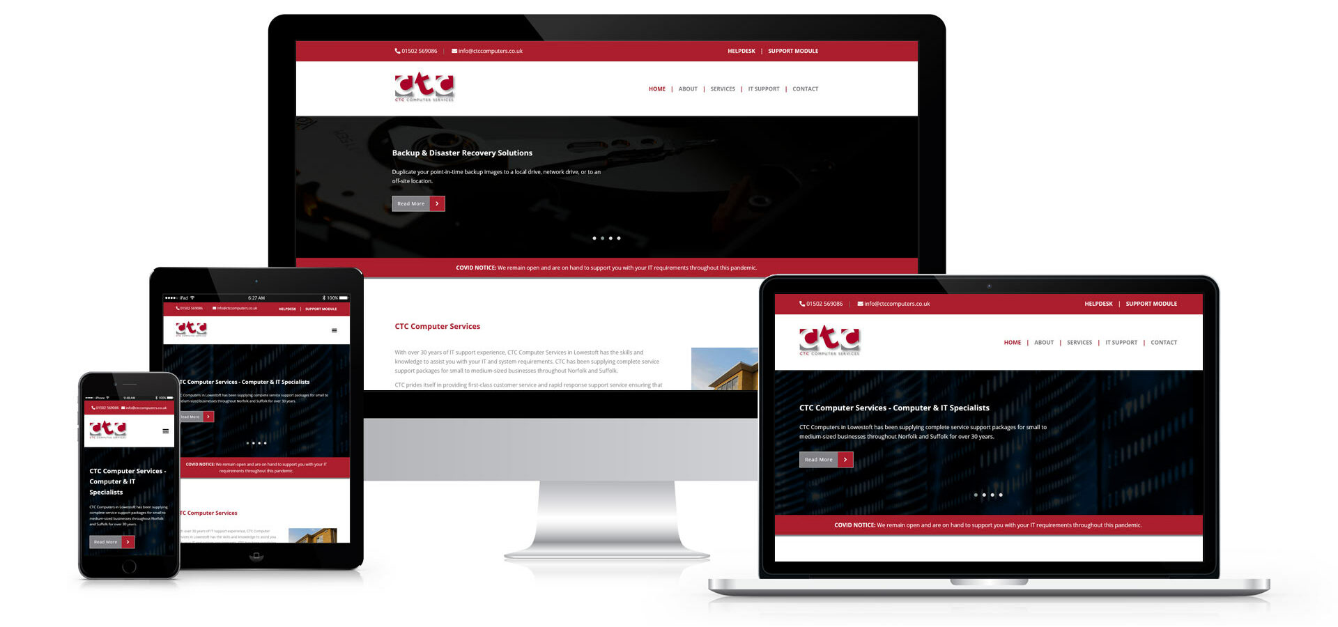 CTC Computer Services - Website Design