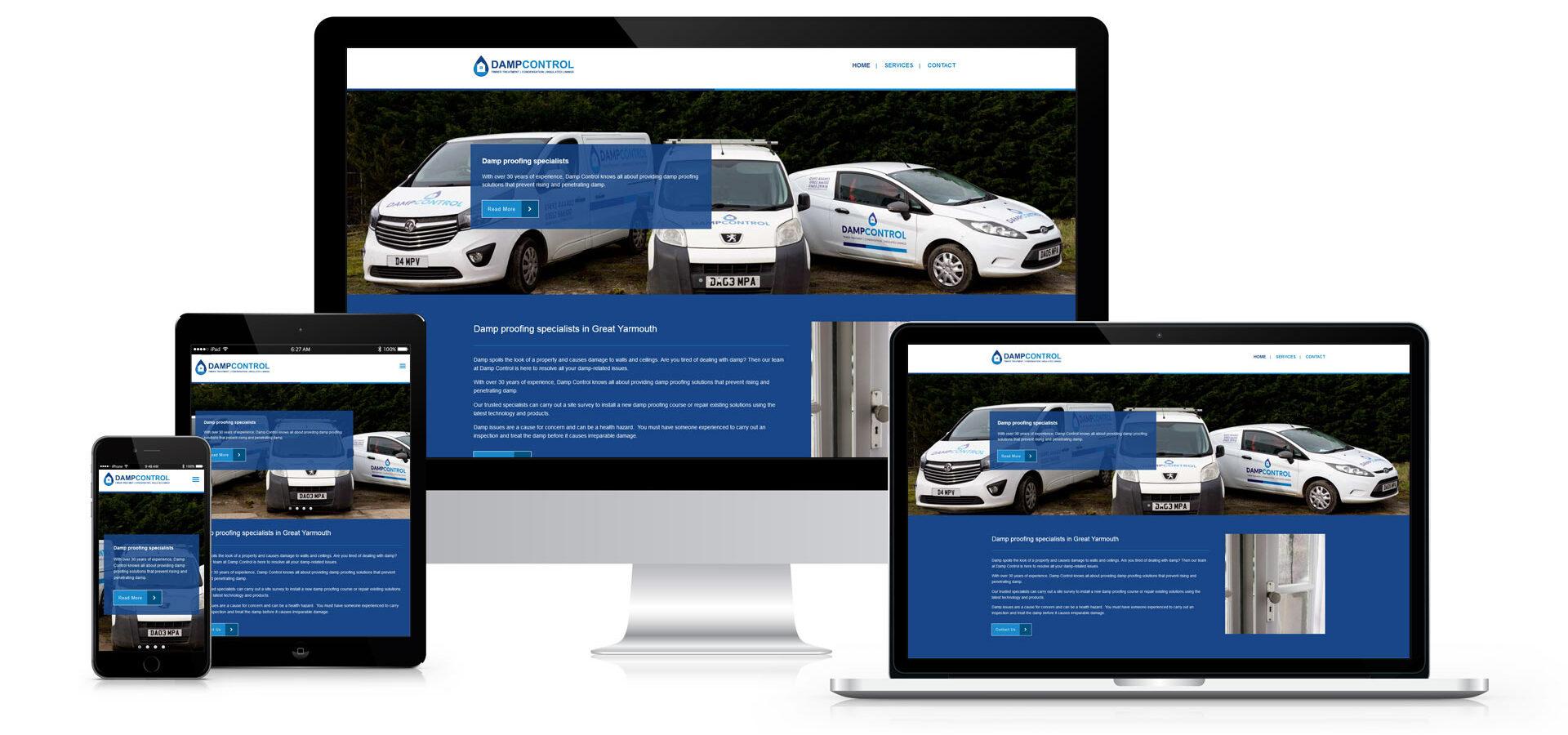 Damp Control - Responsive Website Design