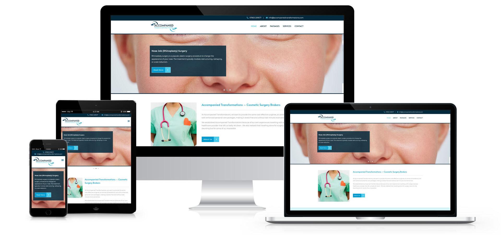 Accompnaied Transformations Responsive Website