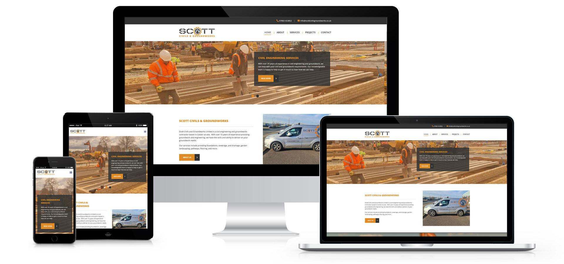 Scott Civils and Groundworks Website Design